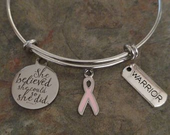 Pink Ribbon Warrior Bracelet