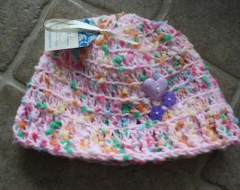 Size 9-12M, Handmade Baby Hat, Crochet Baby Hat, Baby Girl Hat, Infant Girl Hat, Newborn Baby Girl Hat, Baby Gift, Baby Shower Gift