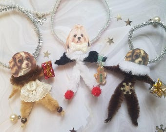 Take Your Pick - Chenille Ornaments Dog Heads
