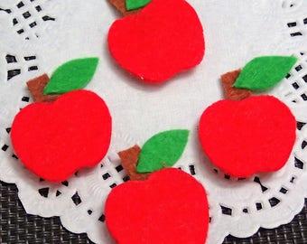 Handmade Felt Apple - 5pcs