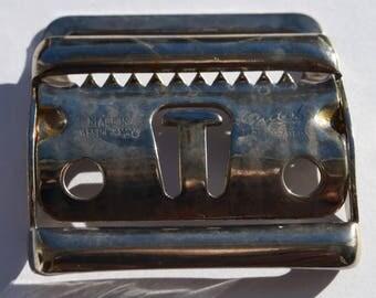 Vintage 2 pcs GUTOS PFORZHEIM metal belt buckles Made in West German