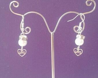 """Earrings """"heart love"""""""