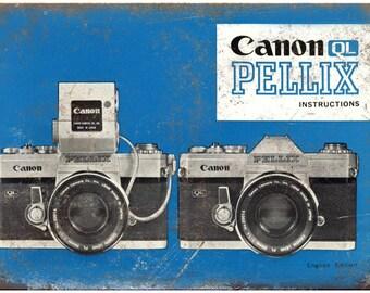 """Canon QL Pellix Film Camera 10"""" x 7"""" Retro Look Metal Sign"""