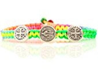 Blessing St. Bracelet for kids - Rainbow