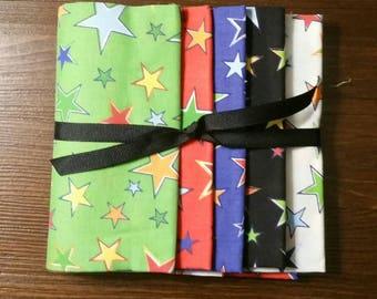 Fat Quarters, Star Fabric, Star Fat Quarter Bundle, Celestial Fabric, Fat Quarter Bundle, Celestial Fat Quarter Bundle