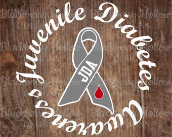 JUVENILE DIABETES AWARENESS, svg, eps, dxf, jpg, cut file