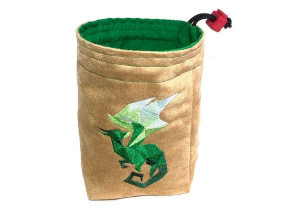 Dice Bag - Faceted Dragon