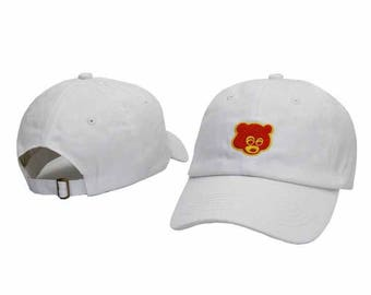 White kanye west the college drop out baseball cap