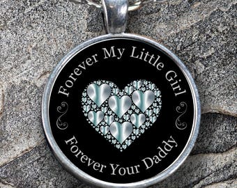 Daughter Necklace from Dad | Daddy's Little Girl | Daughter Gift from Father Wedding Day | Father Daughter Jewelry | Birthday Gift