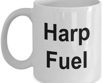 Harp Mug - Harp Fuel - Harpist Mug - Cofffe Mug 11OZ