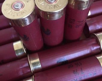 Empty 12 gauge Shotgun Shells & Cleaned Casings - Empty Ammo Spent Cartridge Shells Red 200 pieces