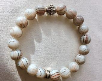 Unique Handmade Glass Beaded Bracelet