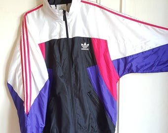 Vintage 90s Adidas sports jacket size L (L/XL).
