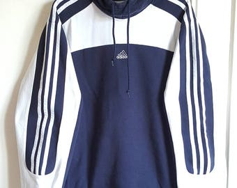 70% cotton hooded sweatshirt Adidas Vintage early 90-00 size M.