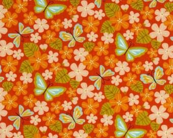 Fabric patchwork orange Wrens & Friends for Moda