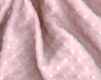 MINKY DOT Cuddle Dimple Dot baby pink