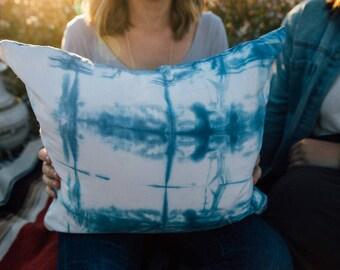 Indigo Dyed Throw Pillow Case