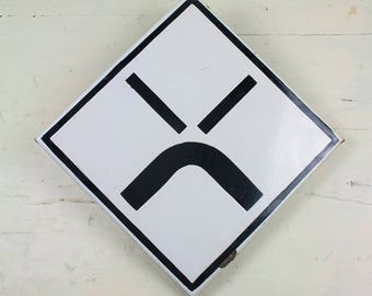 Enamel Traffic Sign, Old Traffic Sign
