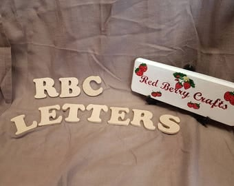 4cm Wooden Letters - Cooper Font - MDF Board - Blank Letters