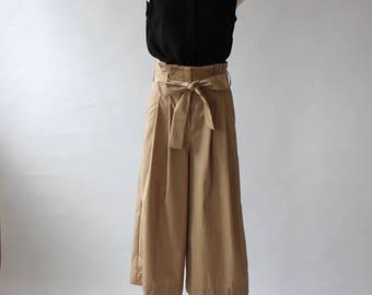 High waist Wide pants [667sewing pattern]