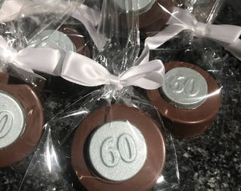 60th birthday Chocolate Covered Oreos- ANY number available!