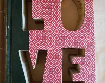 LOVE custom cut book