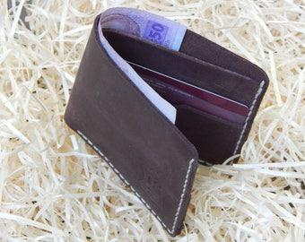Leather Wallet, Gift For Him, Mens leather wallet, mens wallet, men wallet leather, groomsmen gift, Leather Bi-fold Wallet, Crazy-Horse