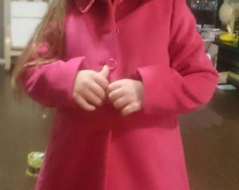 Red-pink girl coat