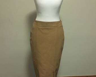 Brown leather skirt size 10