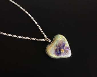 Heart Monarch Opal Necklace