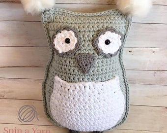 Owl Throw Pillow Crochet Pattern