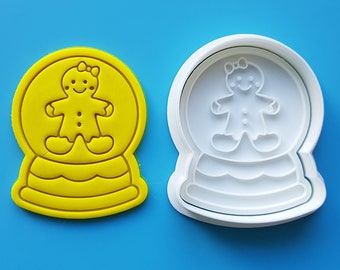 Snow Globe - Gingerbread Girl Cookie Cutter and Stamp