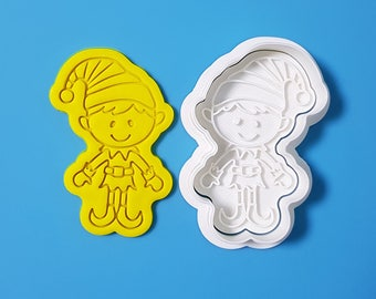 Elf Boy Cookie Cutter and Stamp