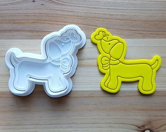 Dachshund with Butterfly Cookie Cutter and Stamp