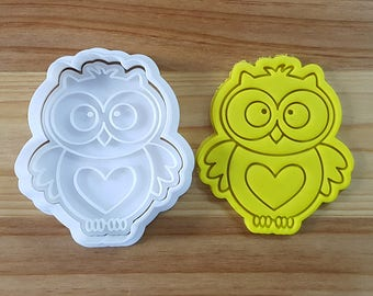 Heart Owl Cookie Cutter and Stamp