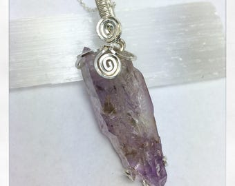 Amethyst Pendant in Sterling Silver