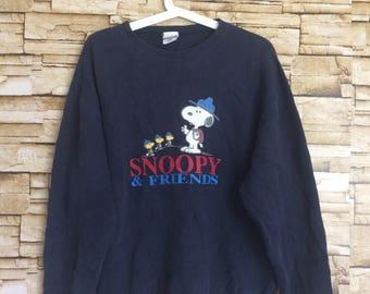 Vintage 90's snoopy sweatshirt snoopy & friend medium size