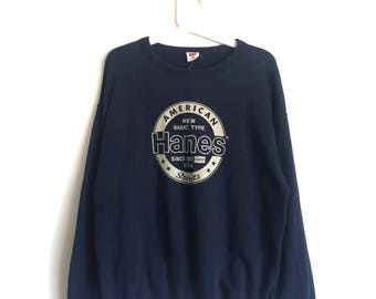 HANES sweatshirt crewneck jumper sweater