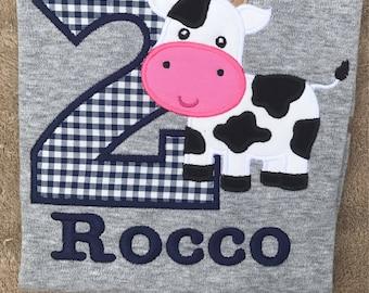 Cow Farm Birthday Shirt