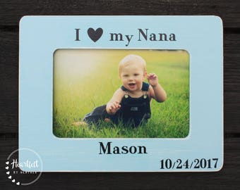 Personalized Nana Frame - Gift for Nana from Grandchild - Personalized Picture Frame - Gift for Grandma or Nana or Grammy - Custom 4x6 Frame
