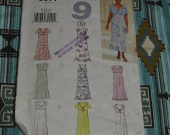 Butterick 3377 Misses / Misses Petite Dress Sewing Pattern - UNCUT - Size 8 10 12