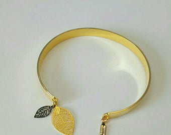 pretty gold adjustable Bangle bracelet