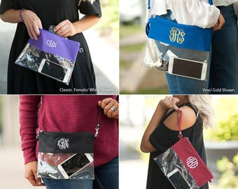 Game Day Stadium Clutch, Clear Clutch College Colors, Stadium Purse with Strap, Small Stadium Bag, Football Stadium, Dome Purse, Saints