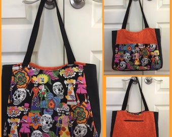 Large Day of the Dead Tote