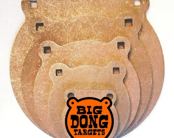 "BIG DONG TARGETS | 3/8"" AR500 Steel Gong Targets Shooting Sports 