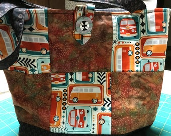 Volkswagon van knitting bag