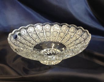 Czech bohemia crystal glass - Cut bowl 41cm/16""