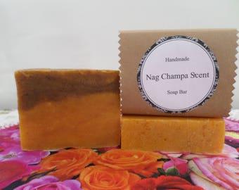 Nag Champa Scent Soap, Nag Champa Soap Bar, Nag Champa Bath Soap, Nag Champa Bar Soap, Handmade Soap, Natural Soap, Vegan Soap