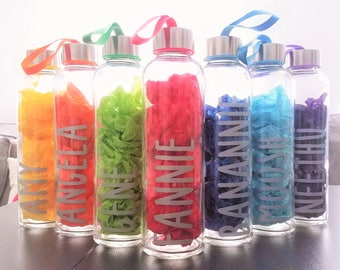 Personalized Colorful Glass Water Bottles