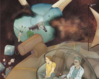 Rick and Morty Poster Print